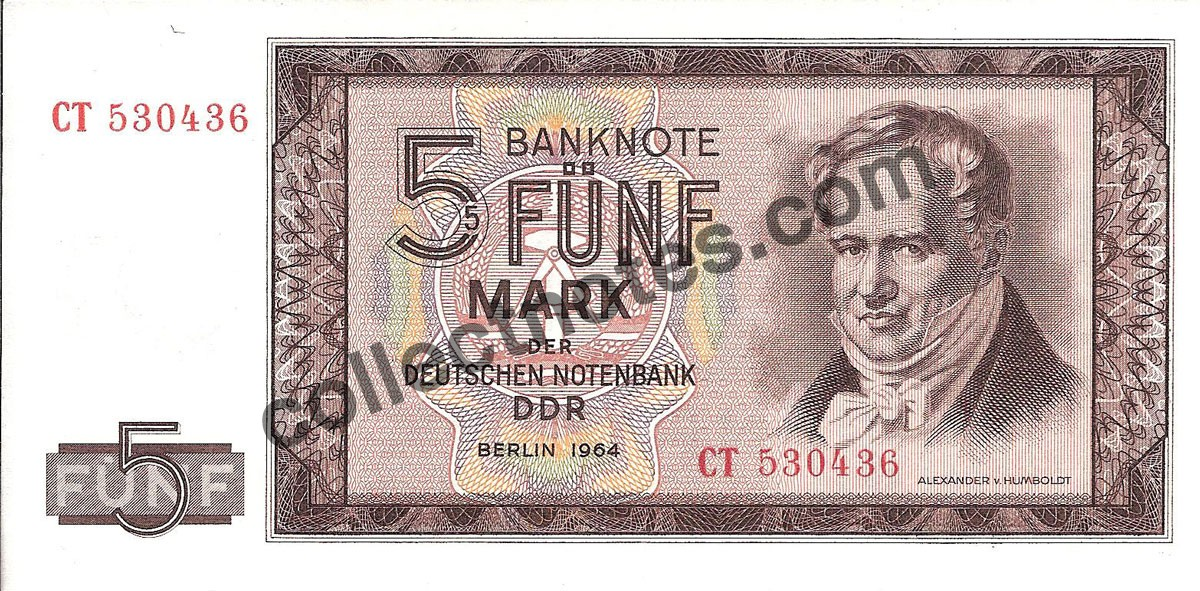 5 Mark 1964 Germany - Democratic Republic
