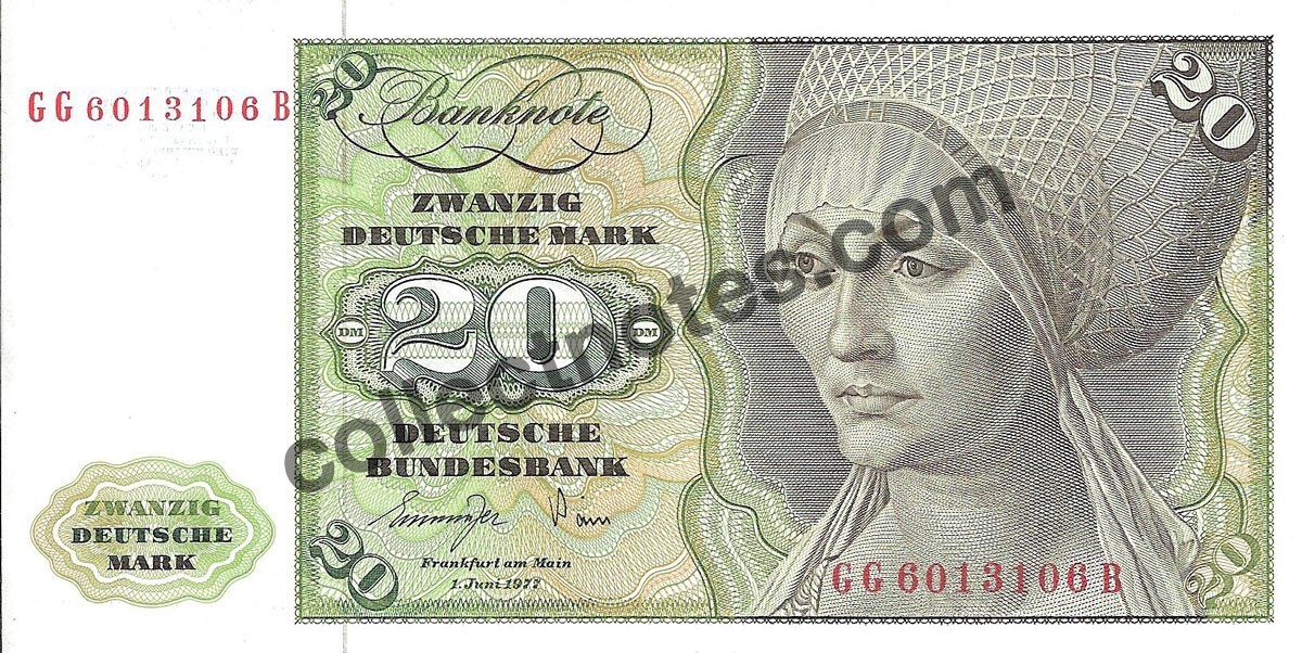 20 deutsche mark 1977 - FR